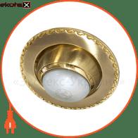 встраиваемый светильник feron 125 r-50 матовое золото золото  17620 декоративные светильники Feron 17620