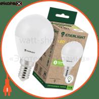 лампа світлодіодна enerlight p45 5вт 3000k e14 светодиодные лампы enerlight Enerlight P45E145SMDWFR
