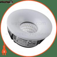 світильник врізний круг,корпус метал d-48mm ip 20 cob led 3w 4200k 210lm колір - білий/мат.хром (85-265v)