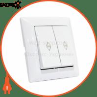 Выключатель проходной 2клв. белый TINA