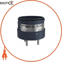 Fixing unit for modular tower lights, black, O60, 4 pins direct mounting