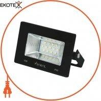 Прожектор LED-SLТ 10w 220В 750lm 6500K Sokol алюминиевый корпус, закаленное стекло