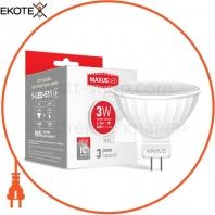LED лампа MAXUS MR16 3W теплый свет GU5.3 AP (1-LED-511-02)