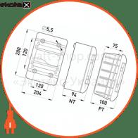 корпус пластиковий, навісний (nt) 9-модульний, однорядний, ip 40, з непрозорими дверцятами