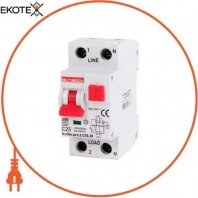 Выключатель дифференциального тока с функцией защиты от сверхтоков e.rcbo.pro.2.C20.30, 1P+N, 20А, С, тип А, 30мА