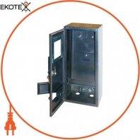 Корпус e.mbox.stand.n.f3.6.z.str металлический, под 3-ф. счётчик, пустой, навесной, 6 мод., с замком, уличный