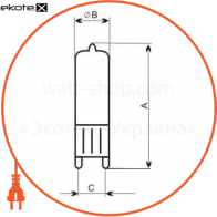 лампа галогенная капсульная 230v 60w g9  - a-hc-0124 галогенные лампы electrum Electrum