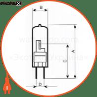 лампа галогенная капсульная 20w g4 мат.  - a-hc-0396 галогенные лампы electrum Electrum A-HC-0396