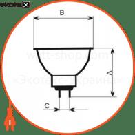 лампа галогенная mr-16 50w 38гр  - a-hd-0069 галогенные лампы electrum Electrum A-HD-0069
