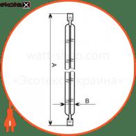 лампа линейная 117,6mm 500w r7s  - a-hl-0060 галогенные лампы electrum Electrum