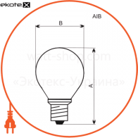лампа шар 60w e14 мат.  - a-ib-0039 лампы накаливания electrum Electrum