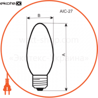 лампа свеча 60w e27  - a-ic-0019 лампы накаливания electrum Electrum