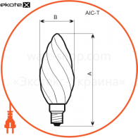 A-IC-0023 Electrum лампы накаливания electrum c37 60w e14 вит. мат.