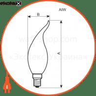 лампа свеча на ветру 40w e14 мат.  - a-iw-0050
