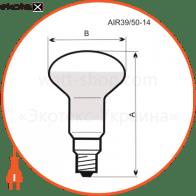 A-IR-0611 Electrum лампы накаливания electrum r39 40w e14 мат.
