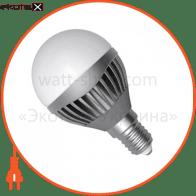 LED лампа D45 5W LB-11 Е14 2700К мат.ал./к. Electrum