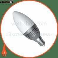 LED лампа C37 5W LС-11 Е14 2700К мат.ал./к. Electrum