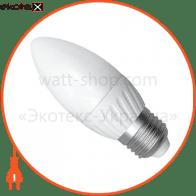 LED лампа C37 4W LС-10 Е27 2700К мат.пл/к. Electrum
