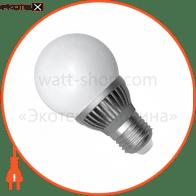LED лампа D60 6W LG-14 Е27 2700К мат.ал./к. Electrum