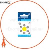 Воздушно-цинковая батарейка Westinghouse для слуховых аппаратов А10 1.45V 6шт / уп blister
