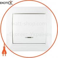 Выключатель 1-кл. с подсветкой BB10-1-1-Fr-W (белый)