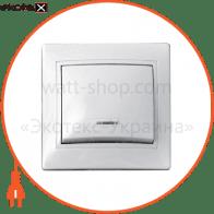 Выключатель 1-кл. с подсветкой BBсб10-1-1-Fl-W арт. BBсб10-1-1-Fl-W