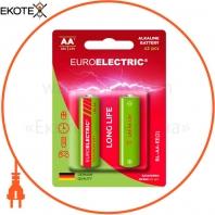 EUROELECTRIC Батарейка лужна AA LR6 1,5V blister 2шт (240)