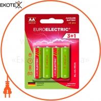 EUROELECTRIC Батарейка лужна AA LR6 1,5V blister 4шт (240)