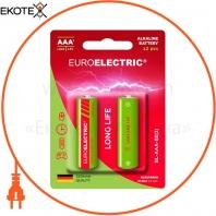 EUROELECTRIC Батарейка щелочная AAA LR03 1,5V blister 2шт (240)