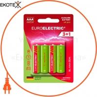 EUROELECTRIC Батарейка щелочная AAA LR03 1,5V blister 4шт (240)