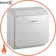 Выключатель 1-кл. с подсветкой BЗ10-1-1-Cm-W (белый)