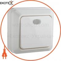 Выключатель 1-кл. с подсветкой BЗ10-1-1-Ct-W (белый)