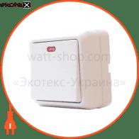 Выключатель 1-кл. с подсветкой BЗ10-1-1-Сb-W арт. BЗ10-1-1-Сb-W