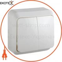 Выключатель 2-кл. BЗ10-2-0-Cm-W (белый)