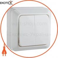 Выключатель 2-кл. BЗ10-2-0-Ct-W (белый)
