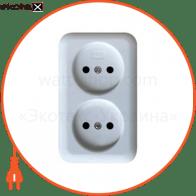 Розетка накладная двойная  - C-OD-1382
