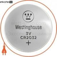 """Литиевая батарейка Westinghouse Lithium """"таблетка"""" CR2032 1шт/уп blister"""
