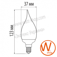 eurolamp клл candle on wind 9w 2700k e14 (100)