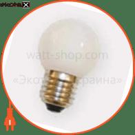 Лампа LED, стекло, диаметр 45 мм, 8 LEDS, цоколь Е27