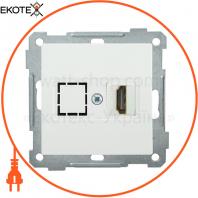 РHDMI-0-Б Розетка HDMI BOLERO білий IEK