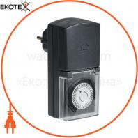 РТМ-4 Розетка-таймер меха. 30 мин. 24ч 48on / off 16А IP 44 IEK
