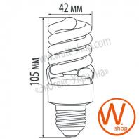 t2 spiral  15w e27 2700k энергосберегающие лампы eurolamp Eurolamp
