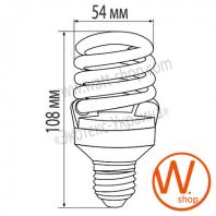 t2 spiral  20w e27 4100k энергосберегающие лампы eurolamp Eurolamp