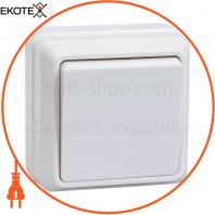 ВС20-1-0-ОБ Выключатель 1кл 10А видк.встан. ОКТАВА (белый)