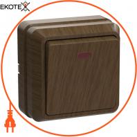 ВС20-1-1-ОД Выключатель 1кл с инд. 10А видк.встан. ОКТАВА (дуб)