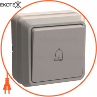 ВСк20-1-0-ОКм Выключатель 1кл кнопку. 10А ОКТАВА (кремовый)