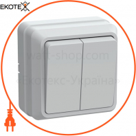 ВС20-2-0-ОБ Выключатель 2кл 10А видк.встан. ОКТАВА (белый)