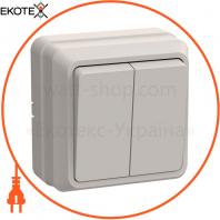 ВС20-2-0-ОКм Выключатель 2кл 10А видк.встан. ОКТАВА (кремовый)