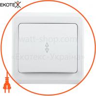 ВСп10-1-0-ВБ Выключатель 1 кл. проход. 10А ВЕГА белый IEK