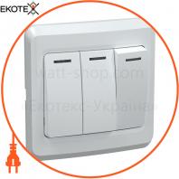 ВС10-3-0-ВБ Выключатель 3 кл. 10А ВЕГА белый IEK